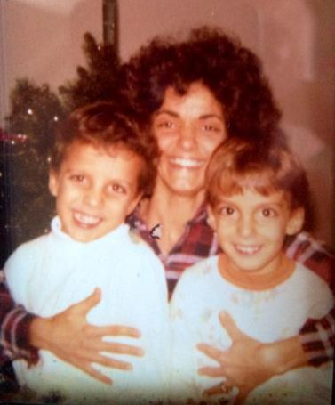 My mom with my brothers Ryan (left) and Cy (right) a few years before I was born.