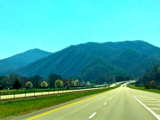 On the road to Asheville