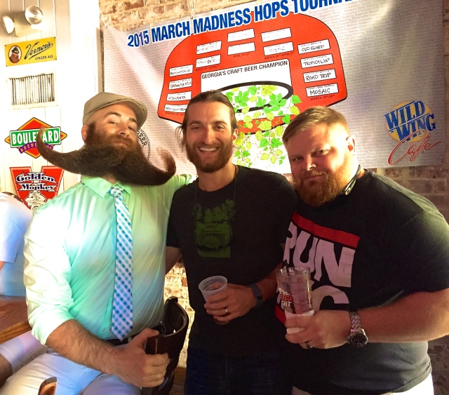Adam Gazda and his friend Rob from BOSS (Beardsmen of Savannah Society)