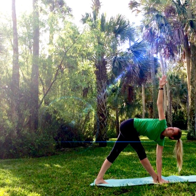 Not a bad place to do some yoga.  Only in Florida do you get this view in your backyard.