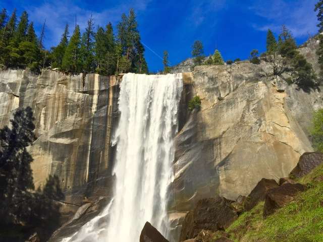 Vernal Fall as you climb the 'Mist Trail'
