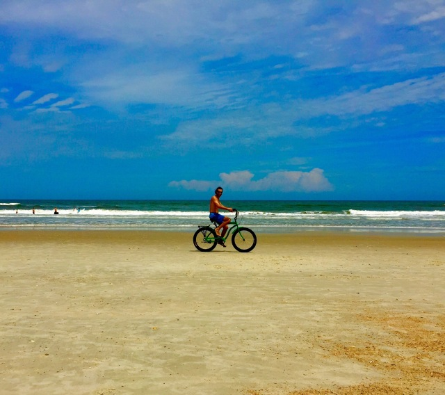 Biking on the beach cruiser.  Ponte Vedra, FL