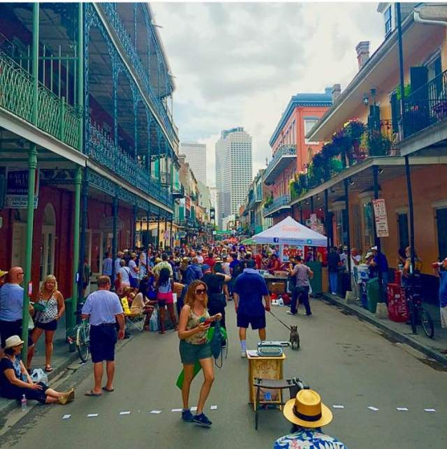 Fell in love with New Orleans at the French Quarter Festival