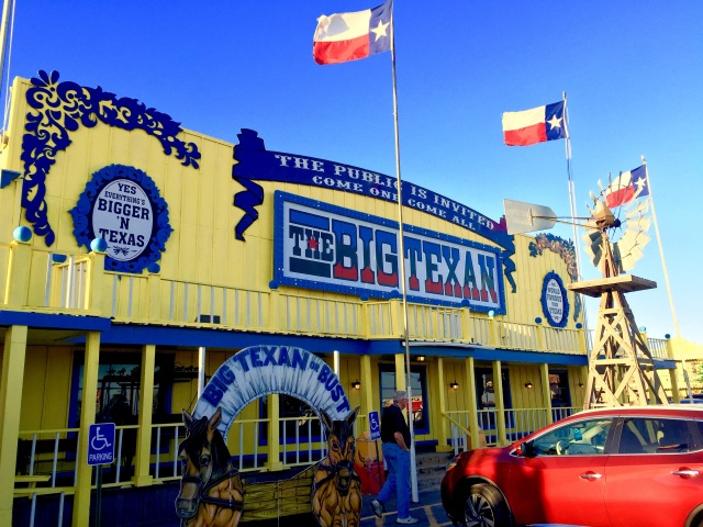 Had a BIG Steak at the BIG TEXAN in Amarillo