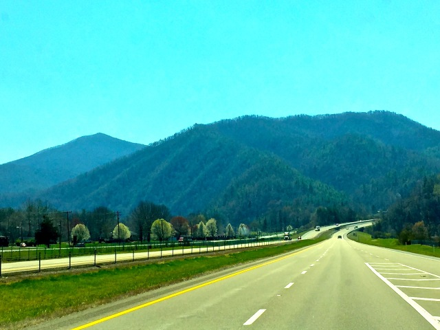 Trucking across the Appalachian Mountains near the Tennessee_North Carolina border.
